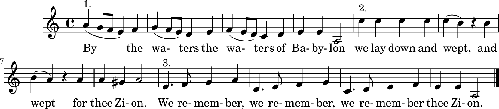 Notenblatt Music Sheet By the waters